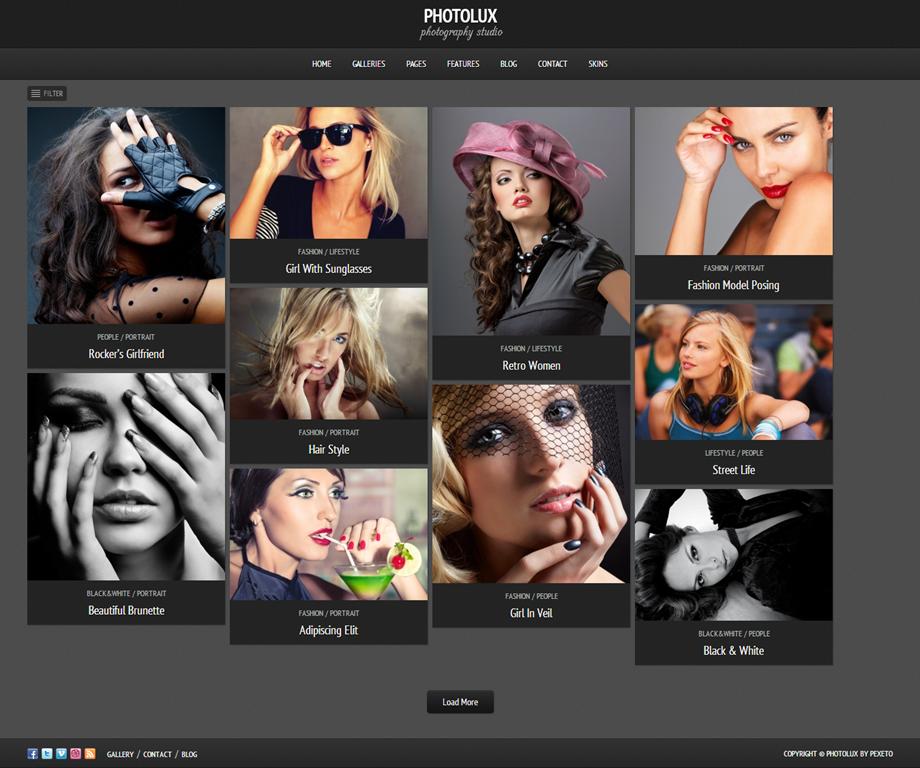Photolux Photography Portfolio WordPress Theme