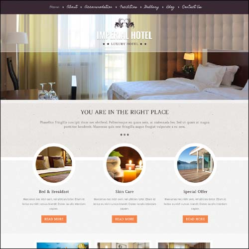 16 Best WordPress Hotel Themes 2013 - Themes4WP