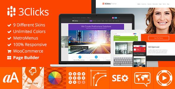 3Clicks | Responsive Multi-Purpose WordPress Theme