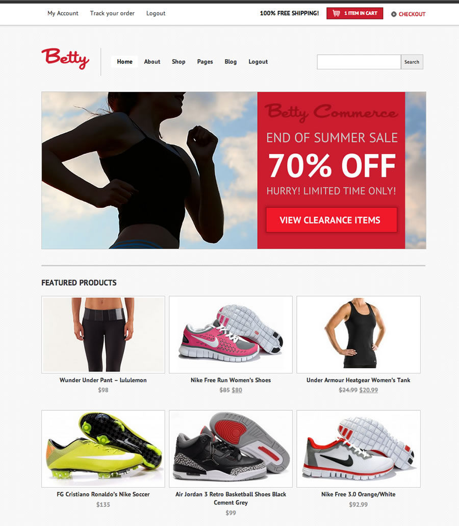 Betty WooCommerce WordPress Theme
