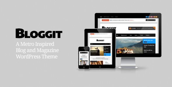 Bloggit - Responsive WordPress Blog,Magazine,News
