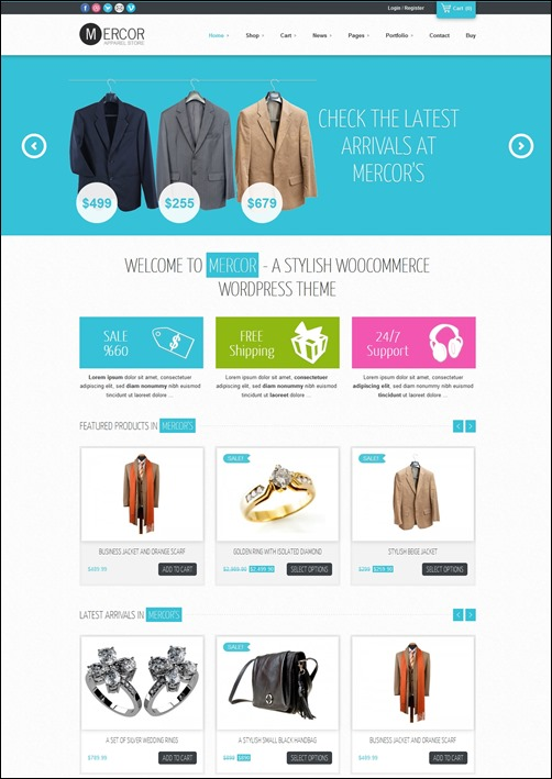 Best WooCommerce WordPress Themes ThemesWP - Responsive shopping cart template