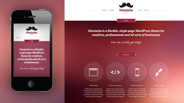 Mustache WordPress Theme