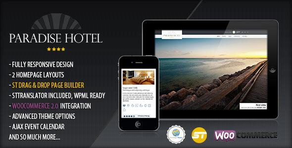 Paradise Hotel - Responsive WordPress Hotel Theme