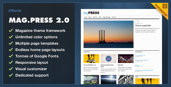 mag.Press eCommerce - WordPress Theme