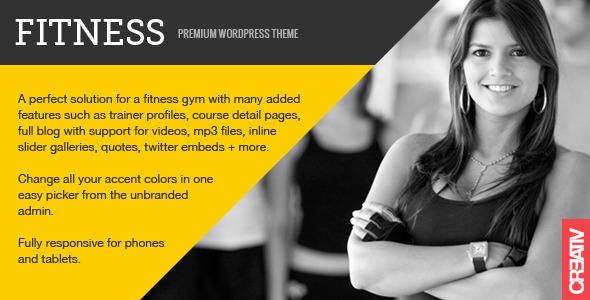 Fitness Premium WordPress Theme