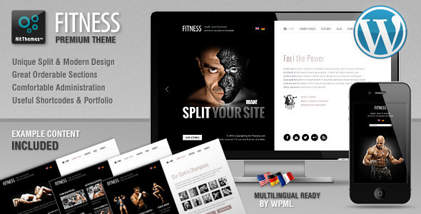 Fitness-Unique design meets WordPress