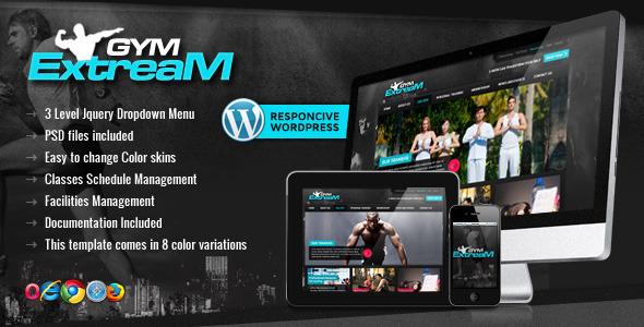 Gym Extream - Gym and Fitness WordPress Theme