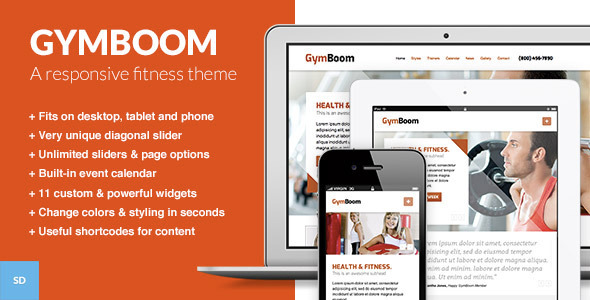 GymBoom - A Responsive Fitness Gym WordPress Theme