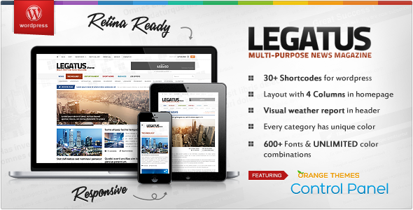 Legatus - Responsive News/Magazine Template