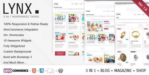 Lynx 3 in 1 - Retina Responsive WordPress Theme