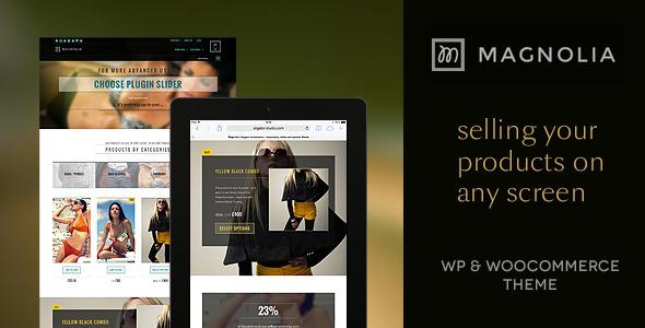 Magnolia - responsive, retina, parallax WP shop
