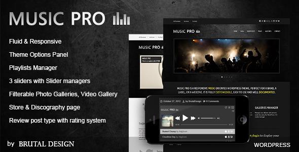 Music Pro - Music Oriented WordPress Theme