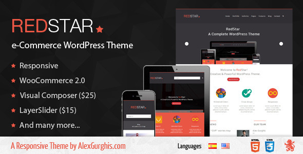 RedStar - e-Commerce WordPress Theme