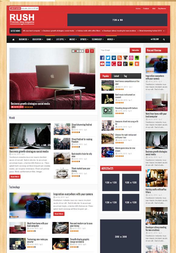 38 Best Magazine News WordPress Themes 2013 - Themes4WP