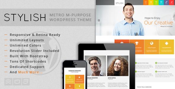 STYLISH - Metro Multi-Purpose WordPress Theme