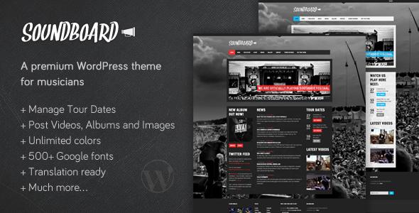 Soundboard - a Premium Music WordPress Theme
