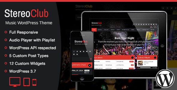 StereoClub / NightClub & Music WordPress Theme