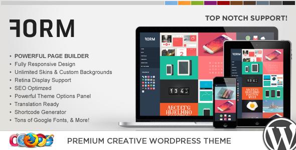 WP Form Responsive Creative WordPress Theme