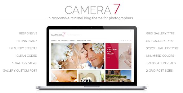 Camera 7 - Photography WordPress Theme