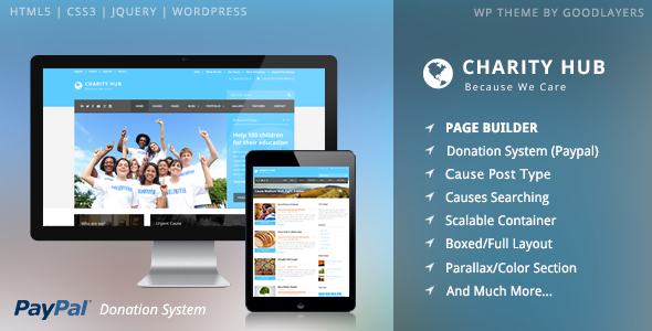 Charity Hub - Charity Nonprofit Fundraising WP