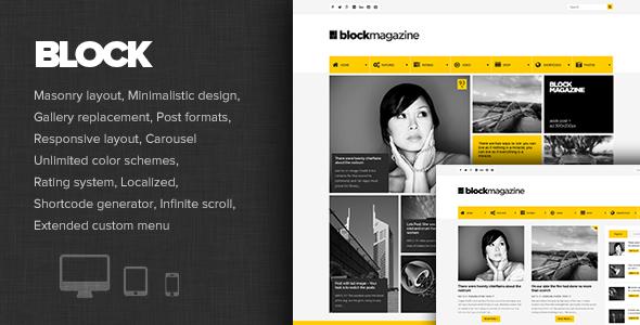 Block Magazine - Blog WordPress Theme