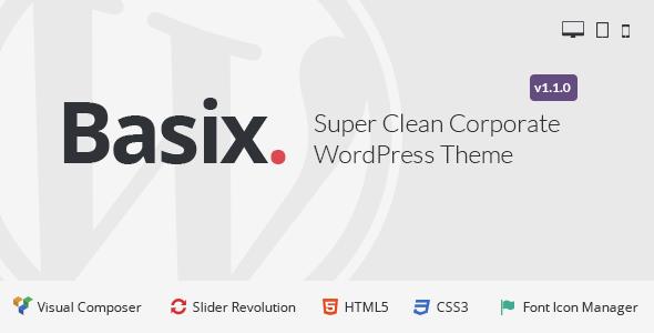 Basix - Corporate WordPress Theme