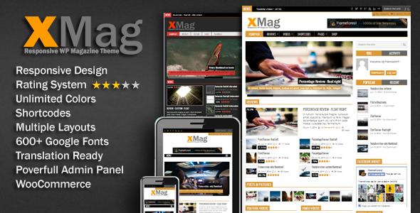xmag - magazine wordpress theme