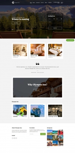 Olympus Inn - Hotel WordPress Theme