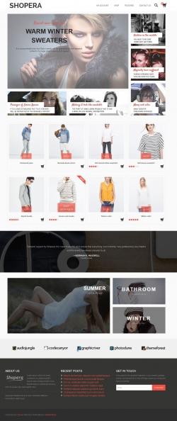 Shopera free woocommerce wordpress theme