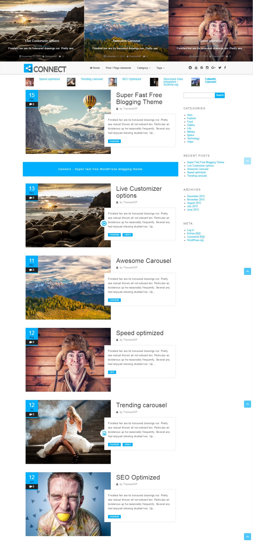 Connect – Free Blogging WordPress Theme