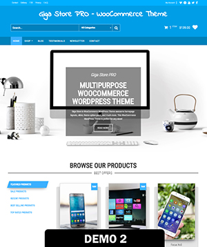 Giga Store PRO - WooCommerce WordPress Theme | Themes4WP
