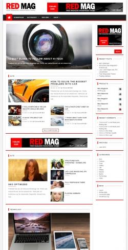 Red Mag – Free Magazine WordPress Theme