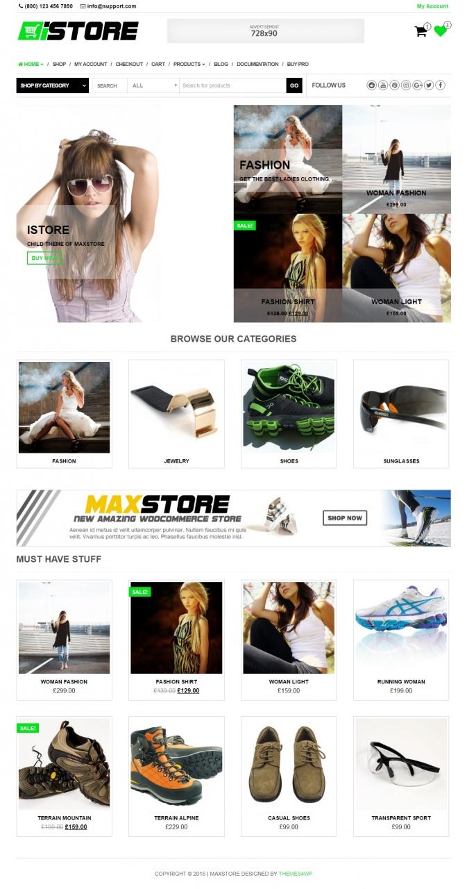 iStore – Free WooCommerce theme