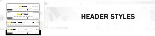 MaxStore PRO header styles