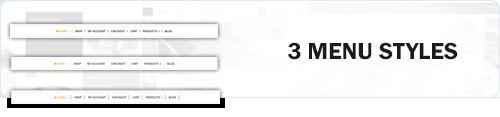 MaxStore PRO menu styles