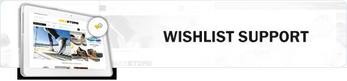 MaxStore PRO wishlist support