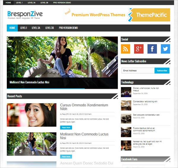 55+ Best Free WordPress Themes 2014 - Themes4WP