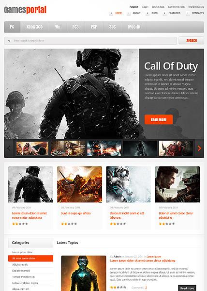 Games Portal WordPress Theme - Themes4WP