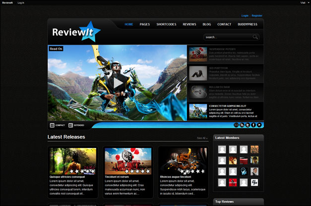 ReviewIt - Review WordPress - BuddyPress Theme - Themes4WP