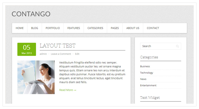 Contango: Free WordPress Theme