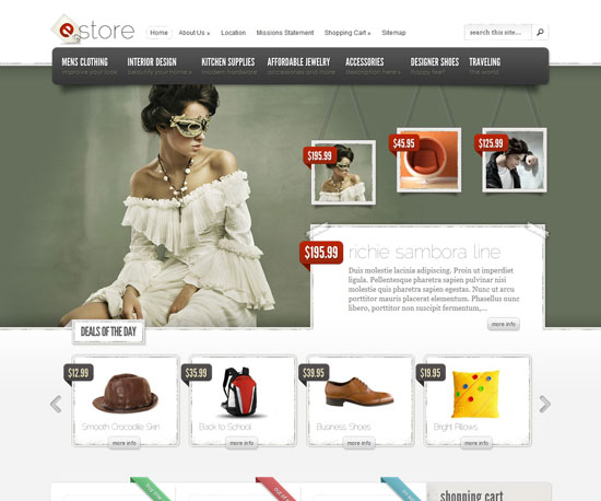 eStore eCommerce WordPress Theme - Themes4WP