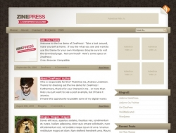 Zinepress - free wordpress theme