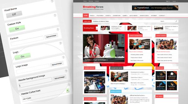 BreakingNews - Responsive WordPress Theme - Themes4WP