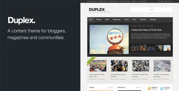 Duplex - Magazine Community Blog Theme - Themes4WP