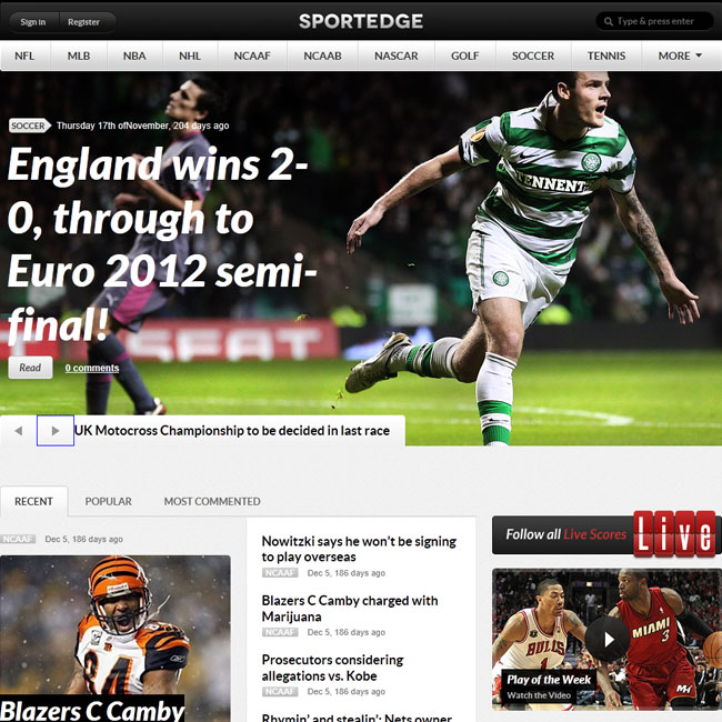 10+ Best Sport WordPress Themes 2014 - Themes4WP