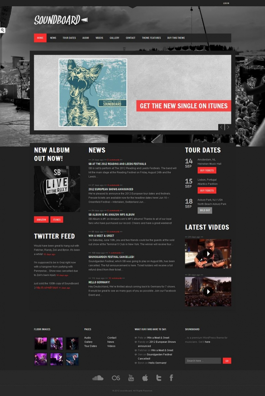 12 Best Music WordPress Themes 2013 - Themes4WP