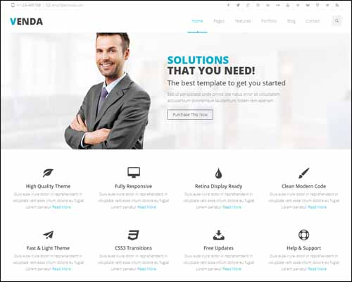 80 best business wordpress themes 2014 themes4wp venda retina responsive multi purpose theme accmission Choice Image