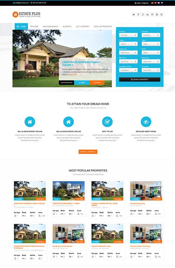 Estate Plus - Responsive Real Estate WP Theme