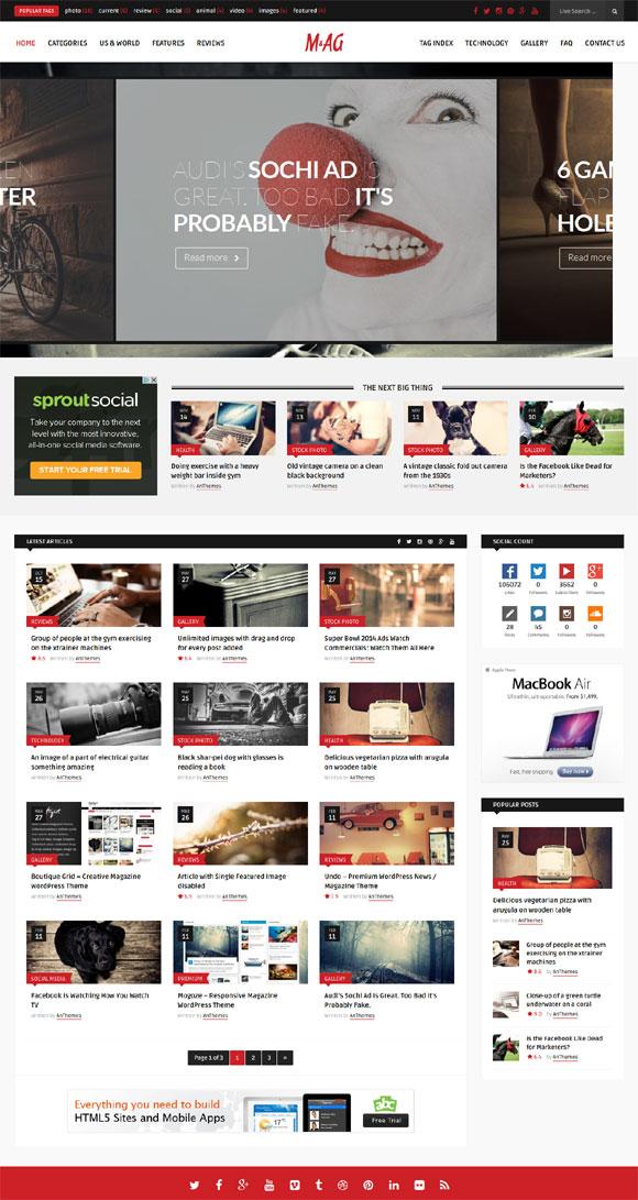 MAG = Grid Magazine / News WordPress Theme